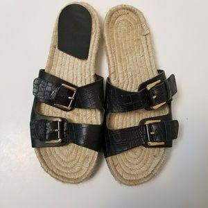 Aldo Sandals Dolci Leather Espadrille Size 8.5